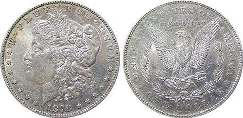 1878 morgan silver dollar